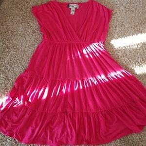 NWOT Oleg Cassini Summer Dress wrap front pink L